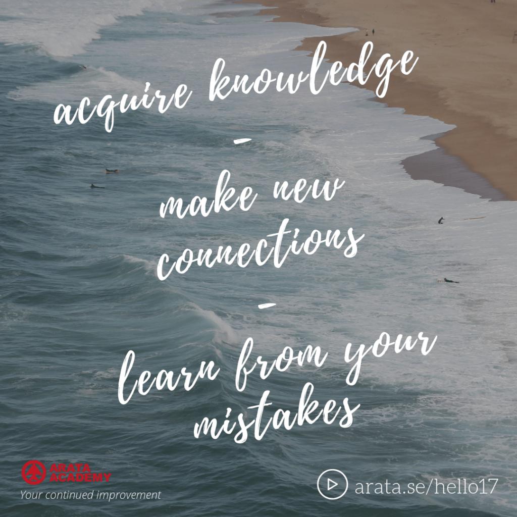Learn from your mistakes - Seiiti Arata, Arata Academy
