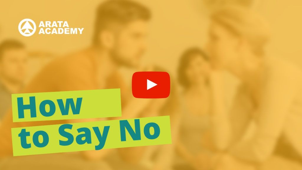 How To Say No class Arata Academy